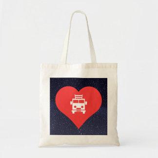 I Heart Firetrucks Icon Budget Tote Bag