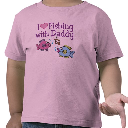 I Heart Fishing With Daddy Tee Shirts