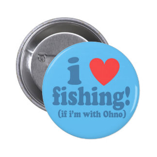 I Heart Fishing with Ohno 6 Cm Round Badge