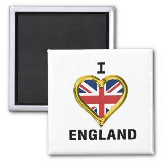 I Heart Flag England Fridge Magnets