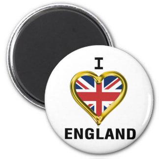 I Heart Flag England Refrigerator Magnets