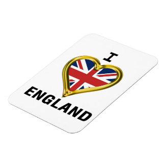 I Heart Flag England Rectangular Magnet