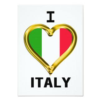 I Heart Flag Italy 13 Cm X 18 Cm Invitation Card