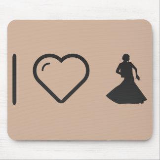 I Heart Flamenco Ladies Mouse Pad