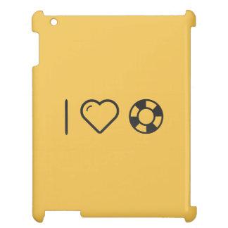 I Heart Floating Circles iPad Covers