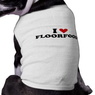 I Heart Floorfood Sleeveless Dog Shirt
