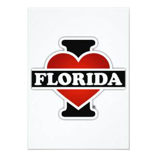 I Heart Florida 13 Cm X 18 Cm Invitation Card