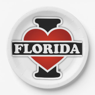 I Heart Florida 9 Inch Paper Plate
