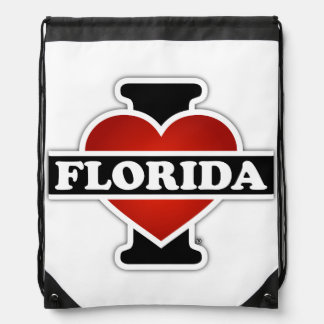 I Heart Florida Drawstring Backpack
