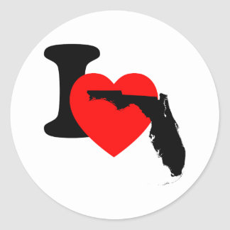 I Heart Florida Classic Round Sticker