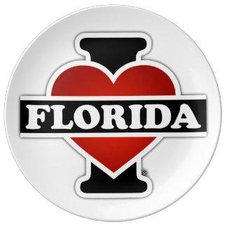 I Heart Florida Porcelain Plate
