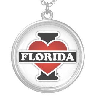 I Heart Florida Round Pendant Necklace