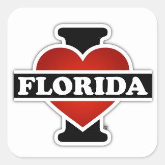I Heart Florida Square Sticker
