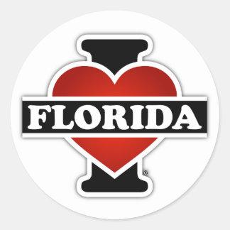 I Heart Florida Round Sticker
