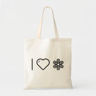 I Heart Flower Spotters Budget Tote Bag