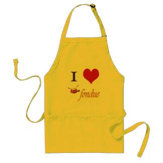 i heart fondue apron