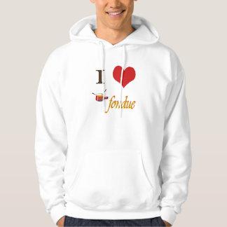 i heart fondue hoodie