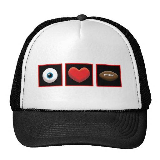 I HEART FOOTBALL TRUCKER HAT