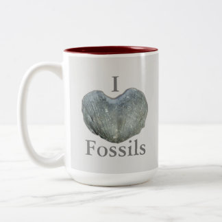 I Heart Fossils Two-Tone Mug