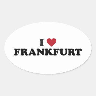 I Heart Frankfurt Germany Oval Sticker