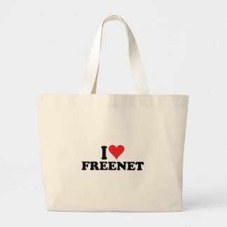 I Heart Freenet 1 Large Tote Bag
