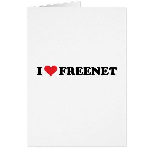 I Heart Freenet 2 Greeting Cards