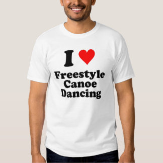 I Heart Freestyle Canoe Dancing Shirts