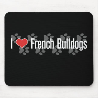 I (heart) French Bulldogs Mouse Pad