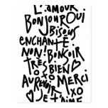 I HEART FRENCH POSTCARD