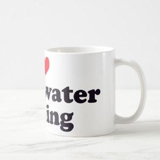 I Heart Freshwater Fishing Basic White Mug