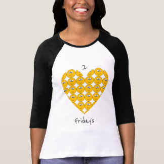 "I ""Heart"" Fridays with Smiling Emojis T-Shirt"