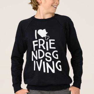"""""""I Heart Friendsgiving"""" Kids Sweatshirt"""