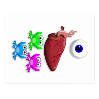 I HEART FROGS! POSTCARD