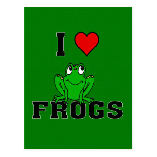 I Heart Frogs Postcard