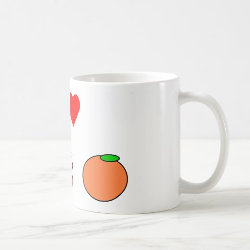 I heart fruit basic white mug