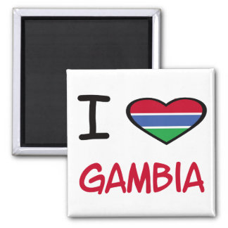 I Heart Gambia Magnets