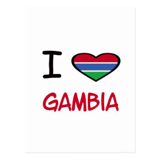 I Heart Gambia Post Cards