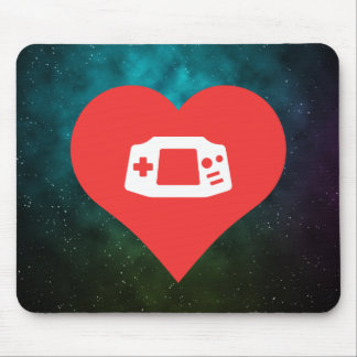 I Heart Game Consoles Icon Mouse Pad