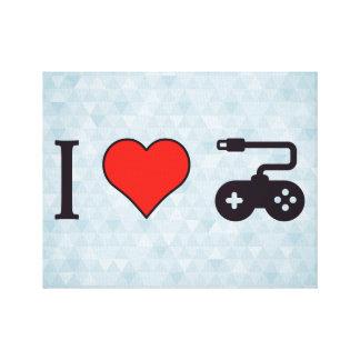 I Heart Gamepads Canvas Print