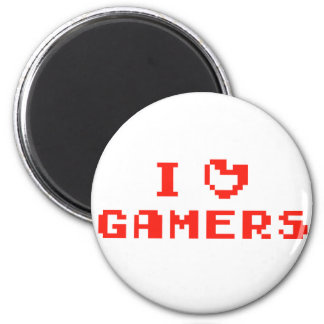I Heart Gamers Refrigerator Magnets