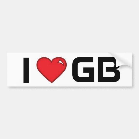 i heart gb bumper sticker