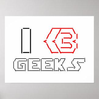 I Heart Geeks ASCII ART Posters