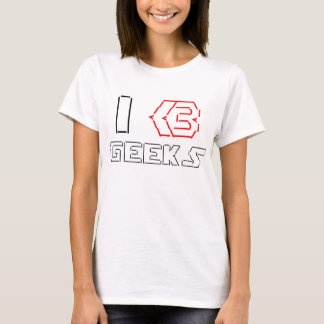 I Heart Geeks ASCII ART T-Shirt