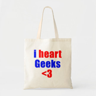 I heart geeks tote bag