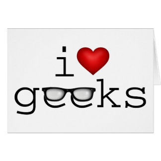 I Heart Geeks Stationery Note Card