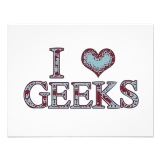 I Heart Geeks Custom Invite