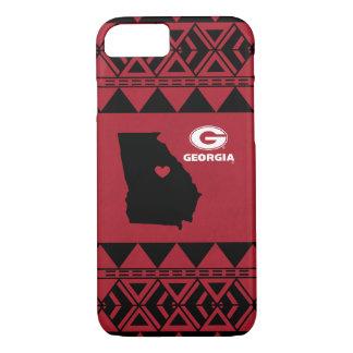 I Heart Georgia State | Tribal Pattern iPhone 8/7 Case