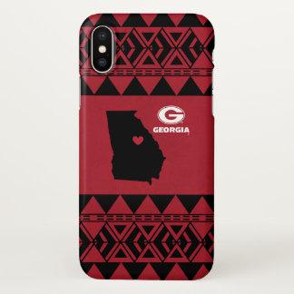 I Heart Georgia State | Tribal Pattern iPhone X Case