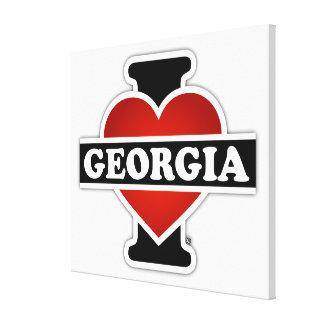 I Heart Georgia Stretched Canvas Print