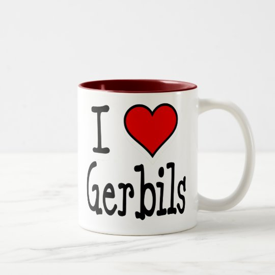 I Heart Gerbils Two-Tone Coffee Mug